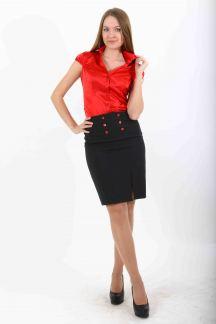 Блуза Страстный красный