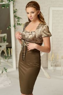 Платье Оливковый питон