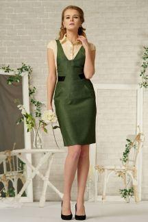 Платье Елочка зеленая