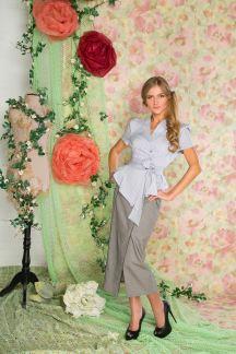 Блуза Леди Диор (серая)