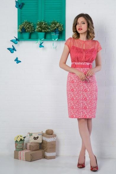 Платье Клубничное мороженое