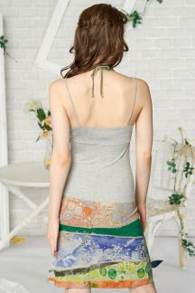 Платье Зеленые орнаменты