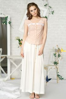 Блуза Нежно-персиковая