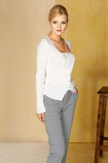Блуза Белоснежно-серебристая